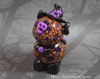 Witch Apprentice Glynnis Polymer Clay Piglet