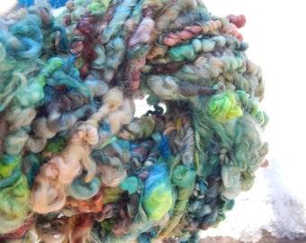 Hand spun Border Leicester Fleece yarn - art yarn - 35 yards, 10.4 oz.