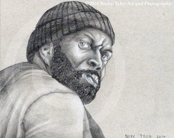 Tyreese, The Walking Dead, Drawing