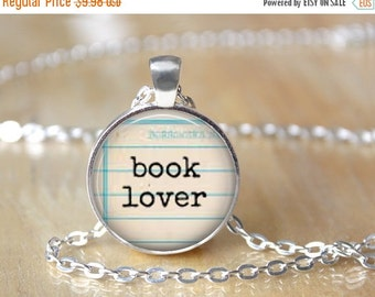 Book Lover Necklace - Librarian Gift - Book Lover Accessories - Book Lover Products - Library Necklace - Literary Jewelry 150