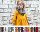 Kids Christmas Outfit - Toddler Scarf Choose Your Color . Gray Toddler Scarf . Toddler Cowl . Child Scarf . Girl's Scarf . Girl's Cowl .