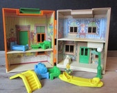 Vintage Hooper's Store Sesame Street Playhouse with Furniture Child Guidance