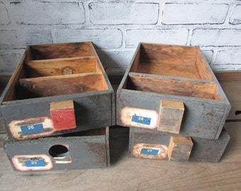 Rustic Drawer Vintage Primitive Industrial Decor Man Cave Storage