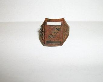 Vintage Sky King Adjustable Ring Derby Peter Pan Cereal Box