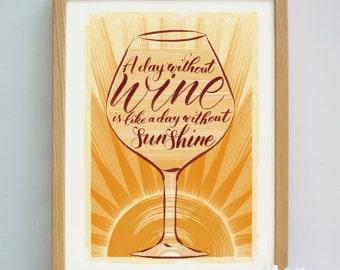 Wine Quote | Wine Gift | Wine Print