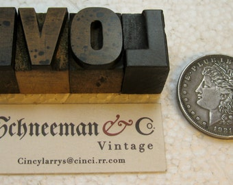 "4 pieces of beautiful vintage wood type - ""LOVE""   It's the only thing, that there's just too little of..."
