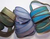 3 Pack Special Sale/Silk Ribbons/Hand Dyed/Wrist Wraps/Sassy Silks/Ready to Ship/ See Description for Details/101-0413