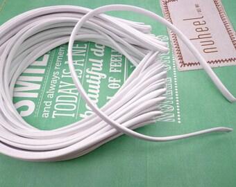 10 pcs White Cloth Covered Headband 5mm Wide