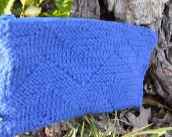 cobalt chevron clutch