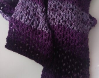 Purple Ombre Lacey Scarf
