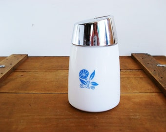 Vintage Sugar Shaker Dispensers Inc. Blue Morning Glory Flower Sugar Shaker