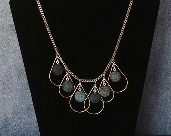 SALE! Denim Teardrop Necklace