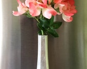 Bud Vase- Refrigerator Bud Vase, Mother Gift, Gift for Mom, Gift for Wife, For Her, Stocking Stuffer, Silver Plate Bud Vase, Recycled Silver