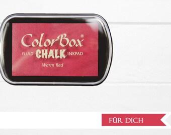 ♥ XL warm red chalk ink pad