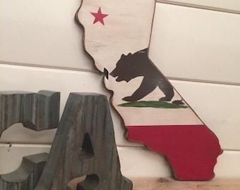 California Flag- Rustic/Stressed