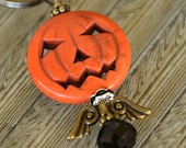 Pumpkin Keychain / Purse Decor / Purse Keychain / Women's Keychain /Halloween Key Chain/Pumpkin Key chain/Halloween KeyChain /Jack-o-lantern