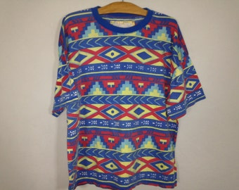 native pattern shirt size L