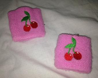 pink cherry sweatbands