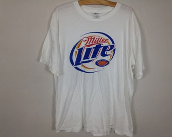 miller light beer shirt size XL
