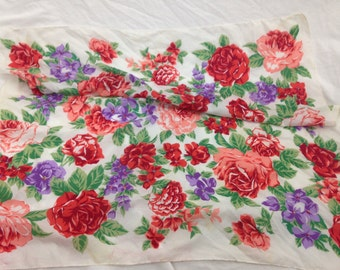 floral rose silk scarf