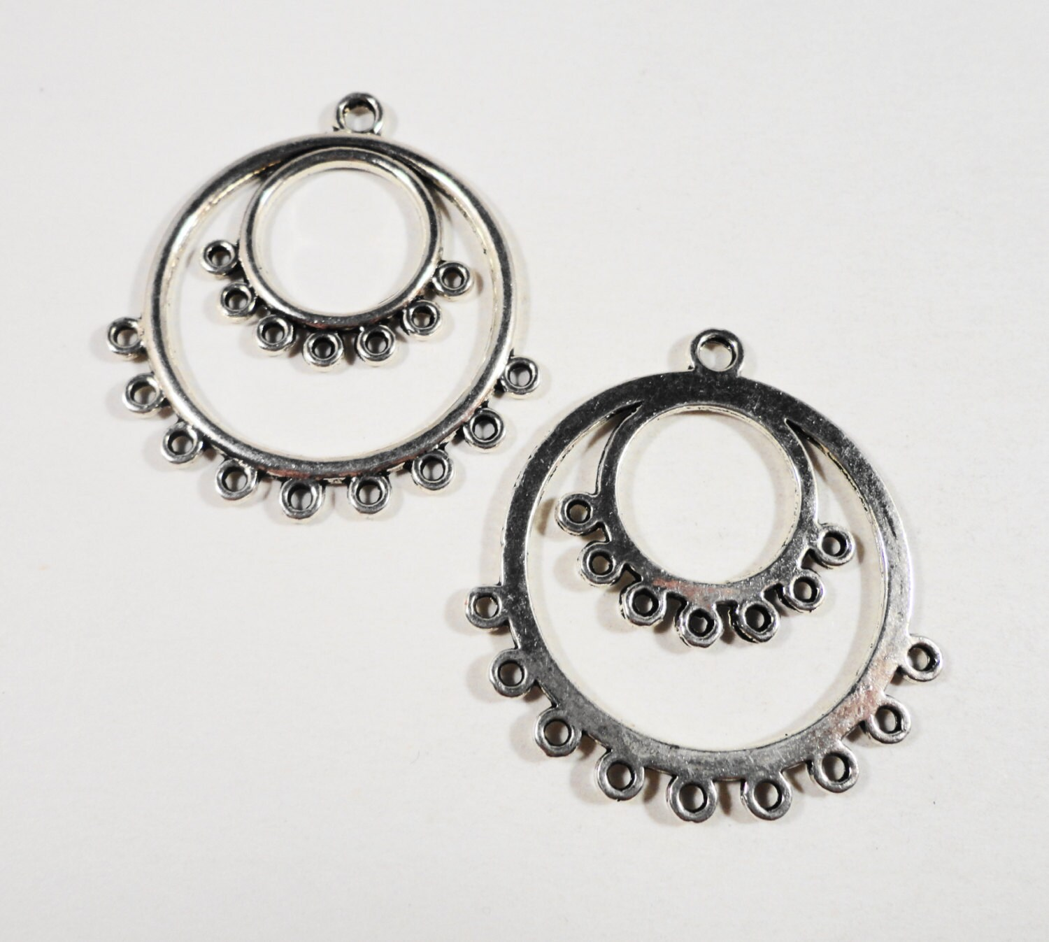 Hoop earring connectors 36x34mm antique silver chandelier earring hoop earring connectors 36x34mm antique silver chandelier earring findings connector findings connector pendants jewelry findings arubaitofo Image collections