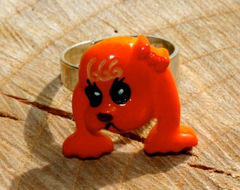 Cute red setter 'Bess' dog with bow ring by MillyPops - Kawaii, Kitsch, Cute