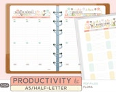 A5 PRODUCTIVITY KIT - Printable Planner Inserts - Flora Theme - 32 sheets