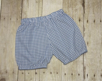 Bloomer Shorts for Boys or Girls Gingham Shorts for Baby, toddler, and Gingham Shorts size 3m, 6m, 9m, 12m,18m, 24m, 2t, 3t, 4t, 5t,6, 7, 8