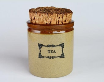 Vintage Moira Pottery Tea Canister / Container/ Jar Made in England 1970's