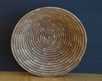 vintage woven sewing basket