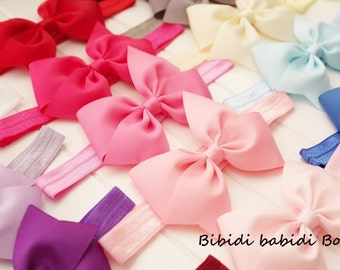 SALE- 10 baby headbands -Girls hair bows and headbands- Birthday gift- Baby shower gift - Hair accessory - You can choose colors