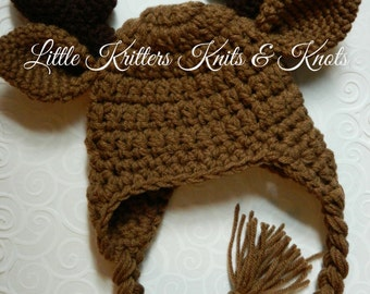 Baby Moose Antler Hat {3-6 months}