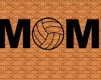 Volleyball Mom SVG File Instant Download Cutting Machine Volleyball svg Sports Svg Mom Svg