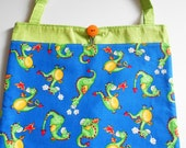 Dragon Tote Bag Trick or Treat Bag library bag school bag Easter Basket