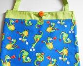 Dragon Tote Bag Trick or Treat Bag library bag school bag Easter Basket