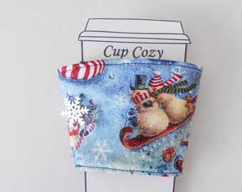 Snowman Snow Snowflake Winter Coffee Cup Cozy