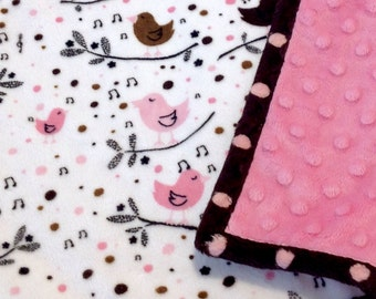 Girl's Double Minky Blanket-Stroller, Crib, Carseat *Ready to Ship*
