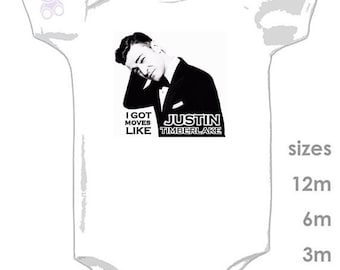Justin Timberlake - JT Baby - NSYNC - boys & girls - Cute Onesie - Custom Baby Clothes - Sexy Back - Mirrors - 20/20