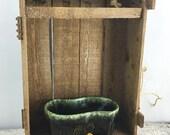 EXTENDED Anniversary Sale Vintage Green Hull Mushroom Planter