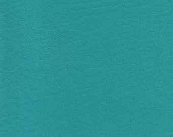 """NEW, Vinyl Upholstery Fabric, Marine Grade, 1 piece 46"""" wide by 35""""- Turquoise"""