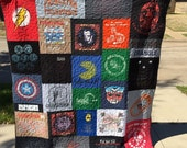 Custom Puzzle T Shirt Quilt for Katie N. - Final Payment