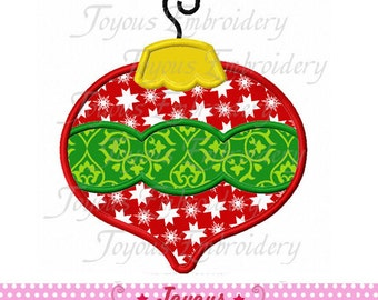 Instant Download Christmas Ornament Applique Machine Embroidery Design NO:1883