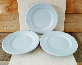 Blue Plates Blue Lune Buffalo China 9 Lunch Dishes Restaurant Ware Set of 3