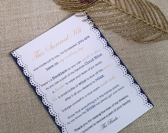 Mother of the Groom Survival Kit - 5x7 - Postcard - Hard Copy