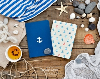 Anchor notebook-sketchbook -set of 2 notebook (small size)