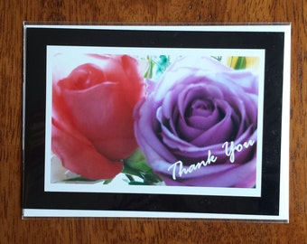 Greeting / Note Card (blank inside), Thank You Roses
