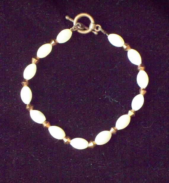 Mother of Pearl and Copper Bracelet