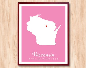 State Map Print Etsy - Print us state map