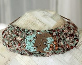Repurposed Necklace, Bib Necklace, Statement Jewelry, Unusual Jewelry, Recycled Silk Sari Ribbon, Unique Gifts for Women