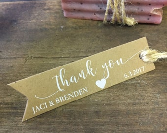 Thank You Tags, Personalized  Wedding Favors, Tags, Custom tags, Bridal Shower Favor Tag, Wedding Gift Tags, Custom Favor Tag, Set of 28